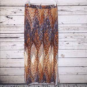 Lane Bryant 18/20 Geometric Striped Maxi Skirt